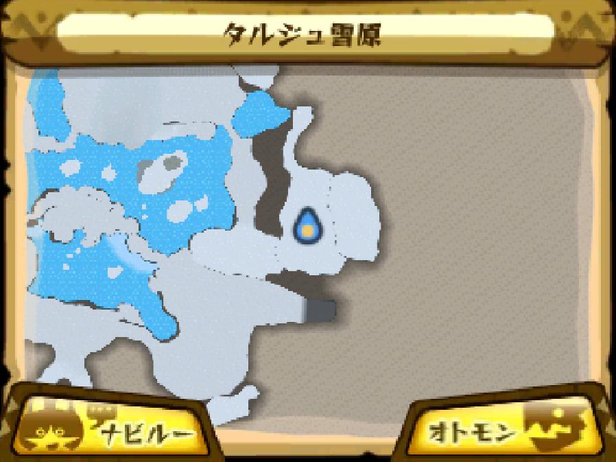 タルジュ雪原のマップ
