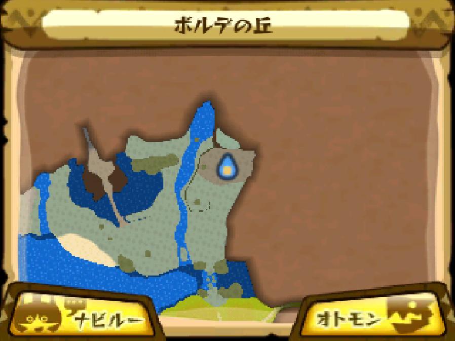 ボルデの丘のマップ
