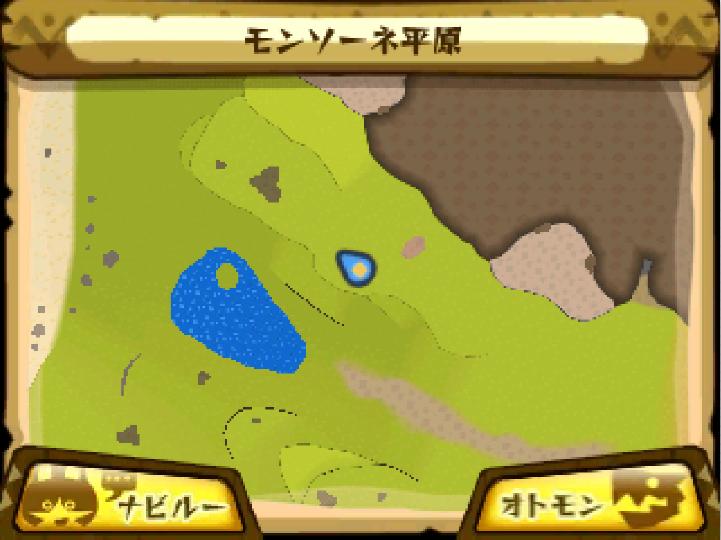 モンソーネ平原のマップ