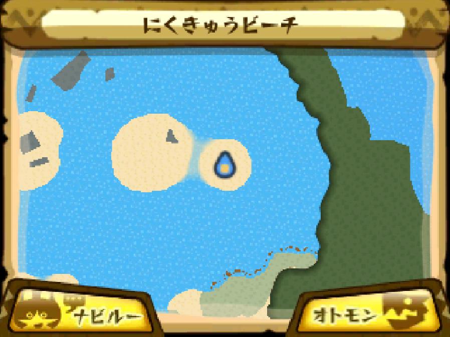 にくきゅうビーチのマップ