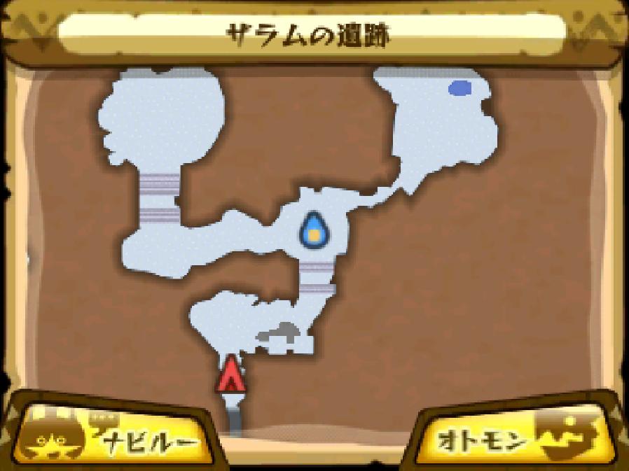ザラムの遺跡のマップ