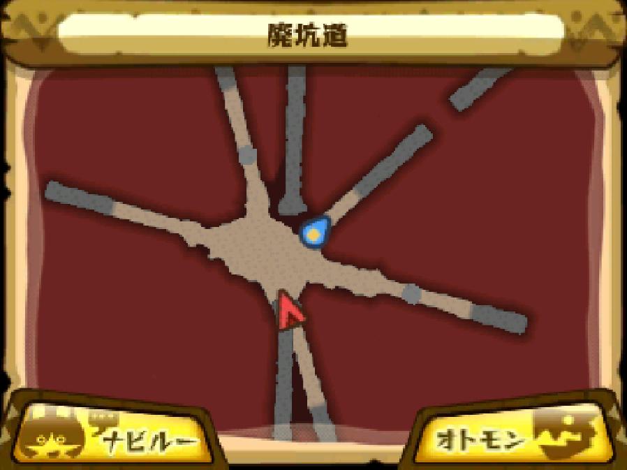 廃坑道のマップ