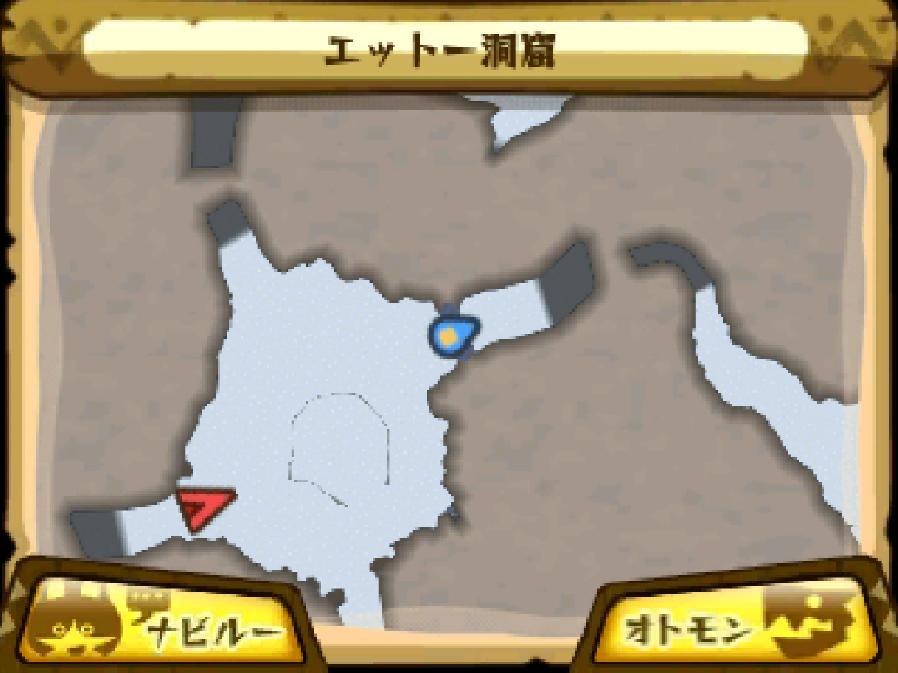エットー洞窟のマップ